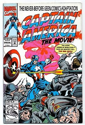 Captain America  The Movie Special     Vf+/nm- Marvel Comic  1992 2