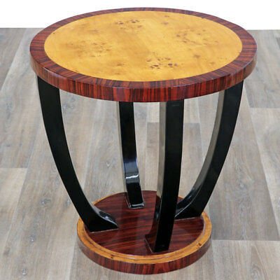 Art Deco Side Table, Beistelltisch, Lampentisch, Cocktail Table, Black Leg Table