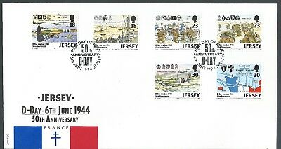 Postal History Jersey D-Day 50th Anniversary First Day Cover set - 6th June 1994