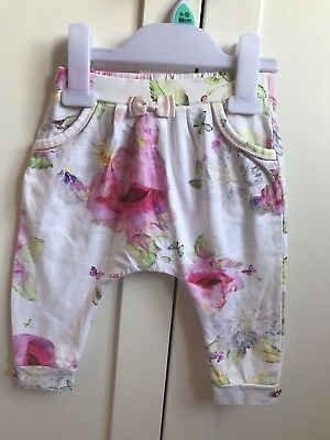 🌸ted baker baby girl peony harem trousers size 6-9months🌼