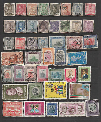 Middle East, Iraq And Jordan  Mix ,44 Stamps, All Different, Used, Lot G