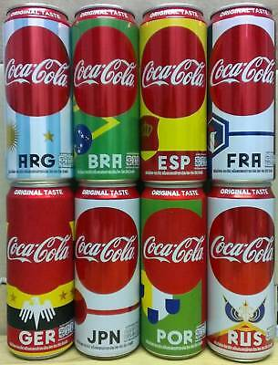 Thailand Coke 2018 FIFA World Cup Russia set 8 cans 325 ml