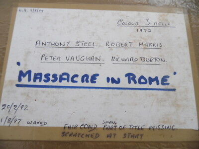 "16Mm Film ""massacre In Rome"""