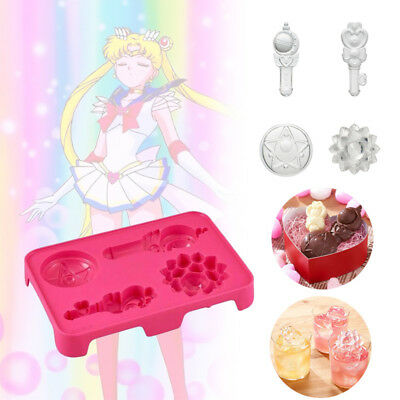 Sailor Moon Zecter Chocolate Mould 3D Ice Cube Mold Maker Silicone Trays DIY New