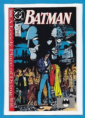 """Batman #441_November 1989_Near Mint Minus_""""a Lonely Place Of Dying_Part Three""""!"""