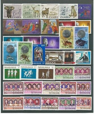 British Commonwealth A Nice Unmounted Mint Mixture Includes Sets