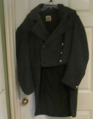 VGC Old West, Victorian, Steampunk, Cosplay Gambler's Gray Cutaway Coat 38R