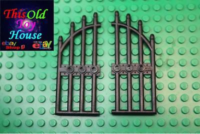 LEGO 42448 Black Door 1 x 4 x 9 Arched Gate with Bars and Three Studs