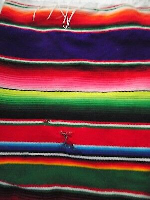 Fine Mexican Blanket Authentic Original Old El Paso mixed colours 85 x 60 ""