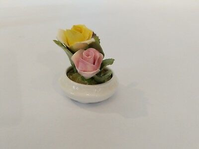 Vintage Coalport Fine Bone China Flower Arrangement Made in England MISSING STEM