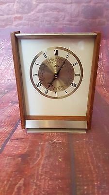 Vintage Retro Smiths Wooden Mantle Clock Timecal British Collectible