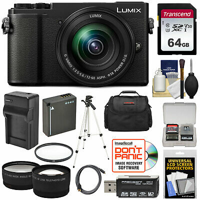 Panasonic Lumix DC-GX9 4K HD Wi-Fi Digital Camera & 12-60mm Lens Kit Black