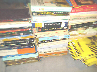 Lot Of 80 Paperback Classic Books  , Cliff Notes,  /home School/ Plays