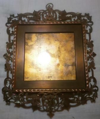 SUPERB QUALITY 19thC ENGRAVED BRASS PORTRAIT MINIATURE PICTURE FRAME