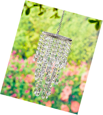 Chandelier Wind Chimes Crystal Clear, Beautiful acrylic crystal jewels drip from