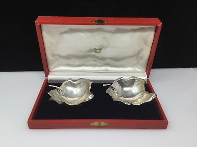Vintage Cartier Sterling Silver Nut/Candy Dishes Handmade w/ Box!