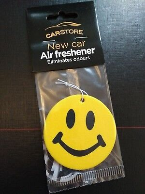 YELLOW SMILEY FACE EMOJI Car Air Freshener Freshner Fragrance Scent 51511f7ba