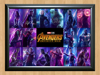 Avengers Infinity War Marvel Signed Autographed A4 Poster Photo Memorabilia dvd