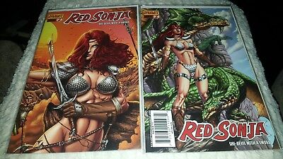 (2 ISSUES) Red Sonja Annual #2  Covers (2009, Dynamite Entertainment)