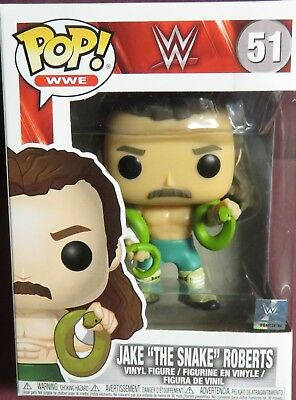 """Brand New Pop, """"wwe"""",  """"jake The Snake"""" Roberts, #51,. Four Inch Figure"""
