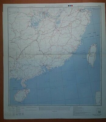 1945 US Army Asia Transportation Maps - China  WW II - 4 sheets