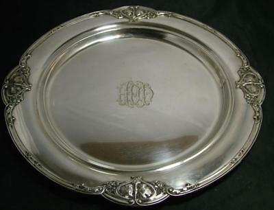 "Antique Victorian Solid Sterling Silver 14.5"" GORHAM Leaf Tray 1270g not scrap!"