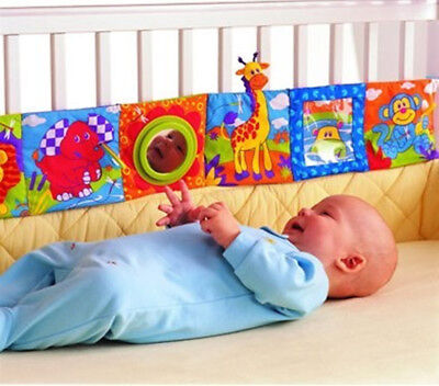 Lamaze Infant Baby Intelligent Development Animal Activity Cot Cloth Book bumper