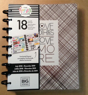 """NEW DESIGN! 2018-2019 Happy Planner CLASSIC """"MODERN CHIC"""" Horizontal Layout"""
