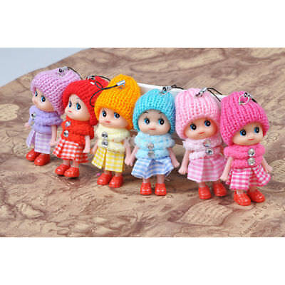 5X Cute Soft Children Toys Interactive Baby Dolls Mini Doll For Girls and Boys