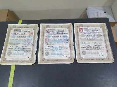 Russia St Petersburg Banque Russe Mark Rubel Rouble Antique Stamped Bond Lot Bbb