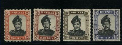 Brunei 4 different Used stamps