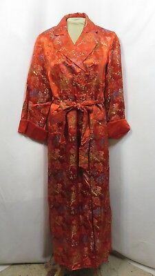 Vintage 60s Dress Dressing Gown Robe Long Wrap Rockabilly Quilted Full Sweep