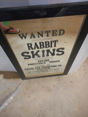 Rabbit Skins Wanted Wall Bar Cave Mirror