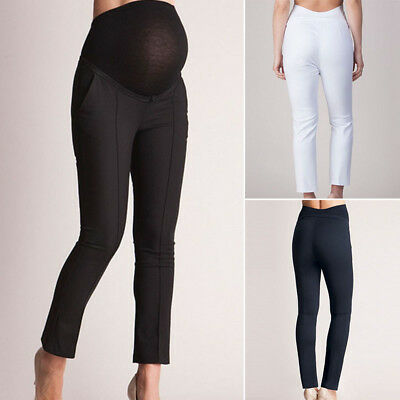 Women high Waist Pregnant Pants Maternity Clothes Ladies Office Long Trousers