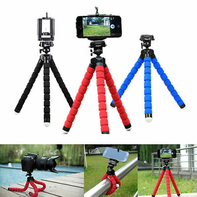 Flexible Octopus Mini Tripod + Holder Clip Stand Mount For Cell Phone Camera