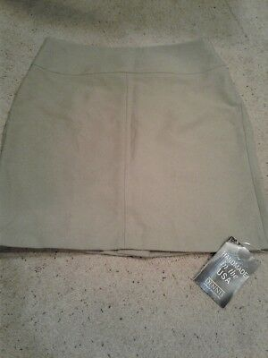 Dennis Uniform Skirt -  Size J13 Khaki Gabardine Brooklyn Item #: 034650-931-068