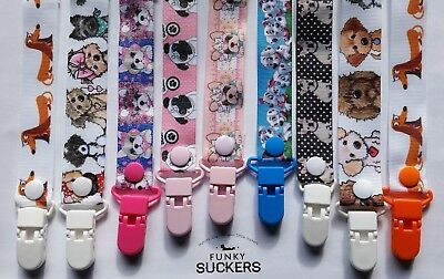 DOGS /  PUGS / BULLDOGS   / NEWBORN / Dummy Clip / Dummy Clips / Pacifier Clips