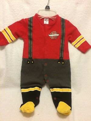 Infant One Piece Outfit Baby Firefighter Outfit Size 0-6 months
