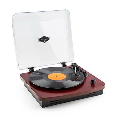 Retro Turntable Vinyl Player Portable Built-in Stereo Speakers MP3 Encoding USB