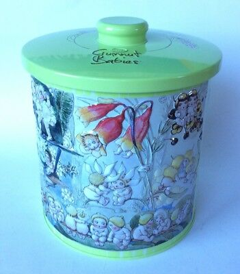 May Gibbs Gumnut Babies Collectable Canister Tin 2014 Excellent Cond.