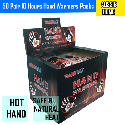 50 Pair 10 Hours Hand Warmers Packs Hot Hand Warmers Pack 10 Hrs Natural