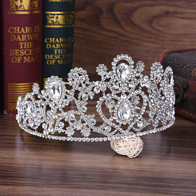 Baroque Princess Handmade Crystal Rhinestone Wedding Tiara Bridal Headband Crown