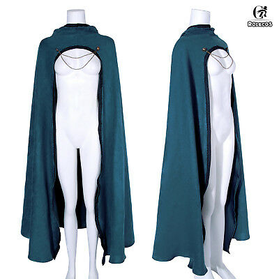 Medieval Hooded Cloak Halloween Long Capes Cosplay Costume Fancy Dress Unisex
