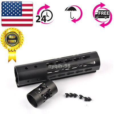"US 7 inch 7"" Free Float KeyMod Handguard Ultralight Picatinny Rail Mount + Nut"