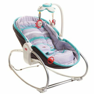 Tiny Love 3-in-1 Baby Child Rocker Rocking Napper - Grey / Turquoise