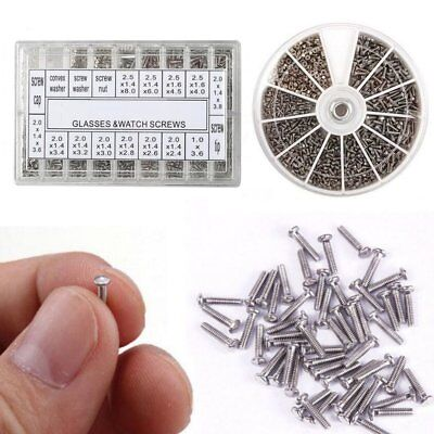 1000PCS Tiny Micro 18 Assortment Screws Eye Sun Glasses Watches Repair Tool Kit