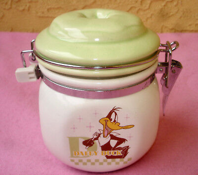 MISTER DONUT Presents DAFFY DUCK Small Vacuum Jar Canister Warner Bros