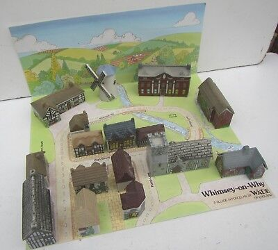 Wade 'Whimsey-on-Why' Porcelain Village SET 2 with Lay out with 16 Buildings