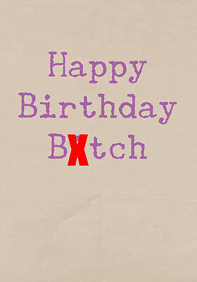 Happy C##ting Birthday ~  Very Rude Greetings Card ~ BaSick Potty Mouth PM-BA106