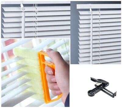 PVC Window Venetian Blinds White TRIMMABLE With Free Cutter & Cleaning Brush New